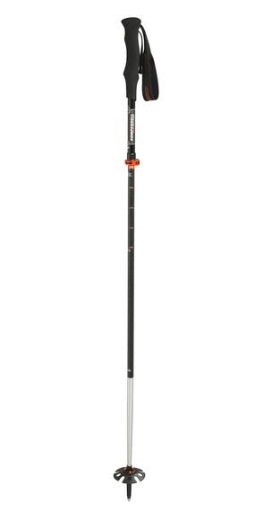 Komperdell Carbon Ultralight Vario 4 Compact wandelstok zwart/zilver